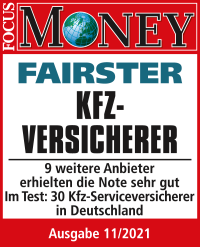 Focus Money: Fairster Kfz-Versicherer (11/2021)
